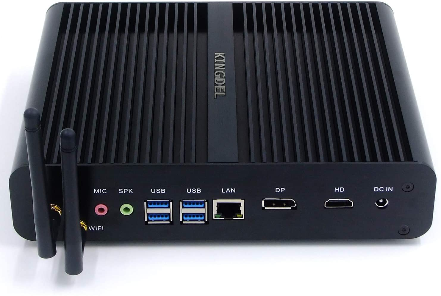 Kingdel NC860 Fanless Mini PC, Slim Desktop Computer, Intel i7-8550U 8th Gen. 4 Cores CPU, 16GB DDR4 RAM, 256GB SSD, 4K 4096x2304, HD Port, DP, WiFi, Metal Case, Windows 10 Pro