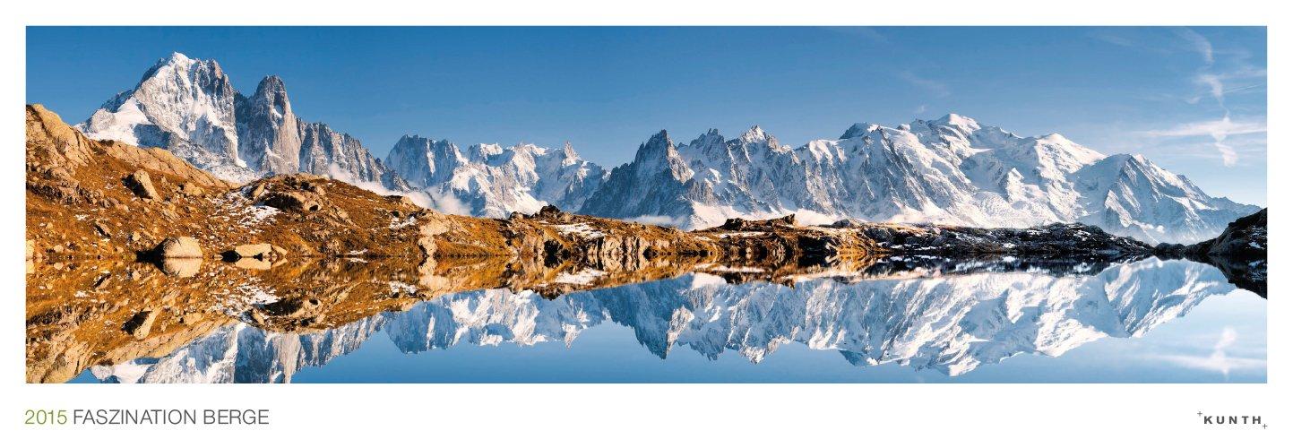 KUNTH Kalender Faszination Berge 2015, Panorama-Wandkalender