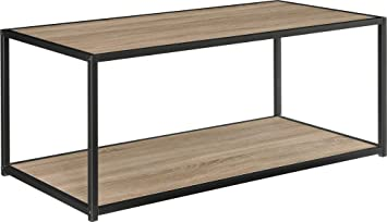 Altra Canton Coffee Table With Metal Frame, Sonoma Oak