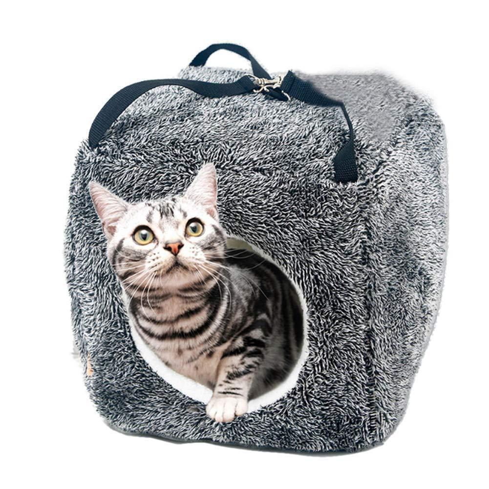 Pet Bed Cat Sleeping Bag cat House, Soft Hanging Square nest, Cat Tent nest