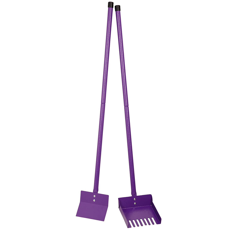 Clean Go ZW4511 12 79 Pet Sanitary Dog Poop Scoop Shovel, Foldable, Easy Storage, Purple