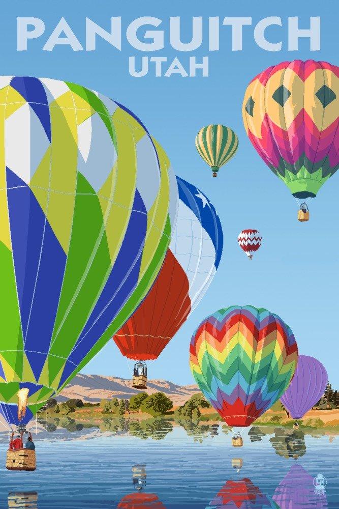 panquitch、ユタ州 – ホットAir Balloons 36 x 54 Giclee Print LANT-76109-36x54 36 x 54 Giclee Print  B01MPW3ST3