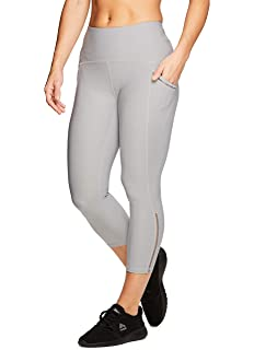889da77ac5d9bc RBX Active Women's Cotton Strappy Side Yoga Capri Leggings at Amazon ...