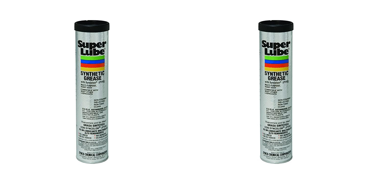 2-Pack Super Lube 21036 Synthetic Grease Dielectric USDA H-1 Cartridge 3 oz