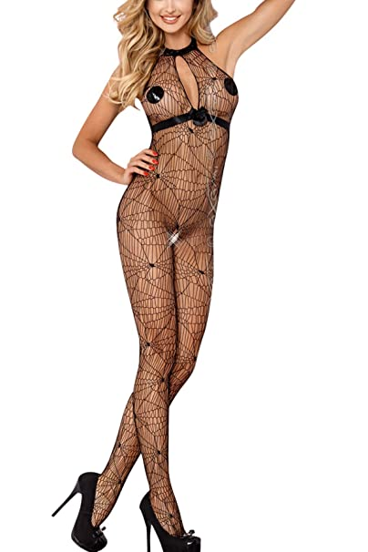 Axami traje sexy negra telaraña talla única: Amazon.es ...