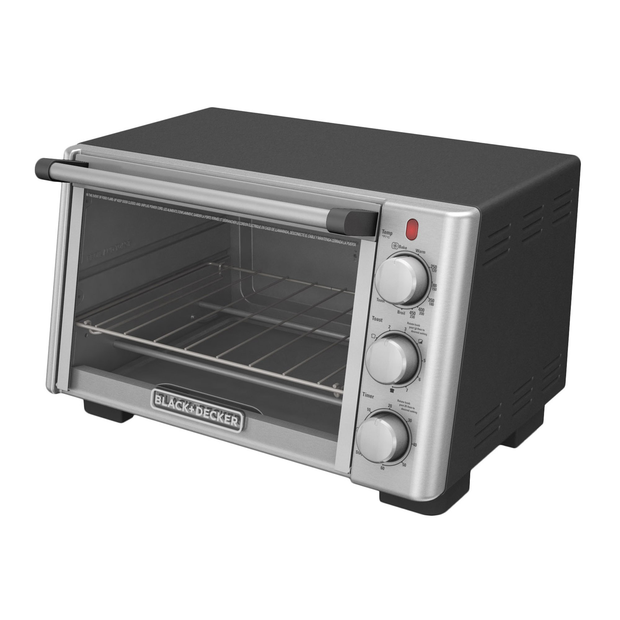 BLACK+DECKER 6-Slice Convection Countertop Toaster Oven, Stainless Steel/Black, TO2050S by BLACK+DECKER (Image #8)