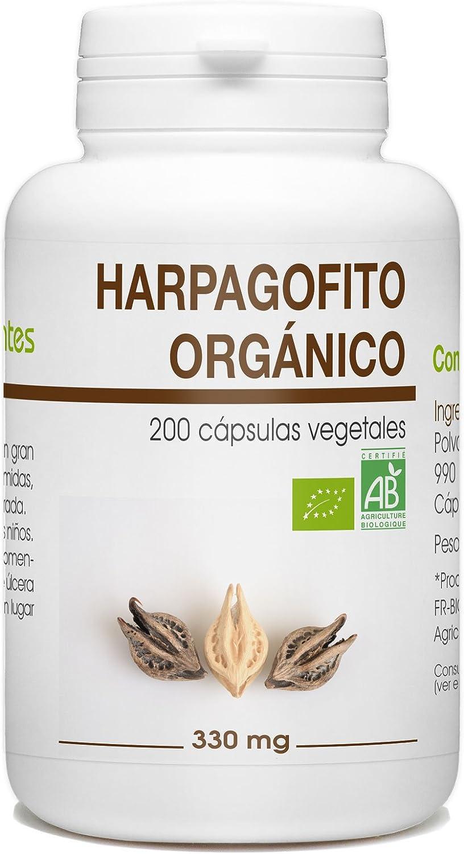 Garra del Diablo - Harpagofito Orgánico - Harpagophytum procumbens - 330mg - 200 cápsulas vegetales