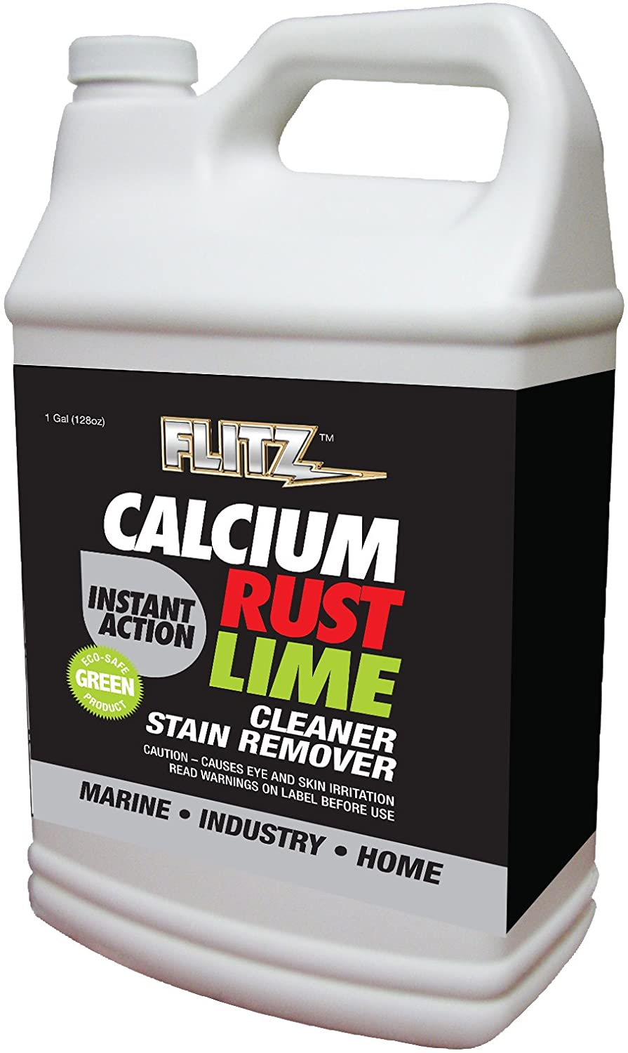 Flitz CR 01610 Instant Calcium, Lime and Rust Remover, 1 Gallon Refill Bottle