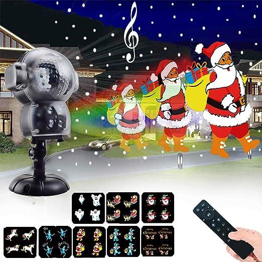 Luz de nevadas Navidad, proyector luces navidad impermeable con ...