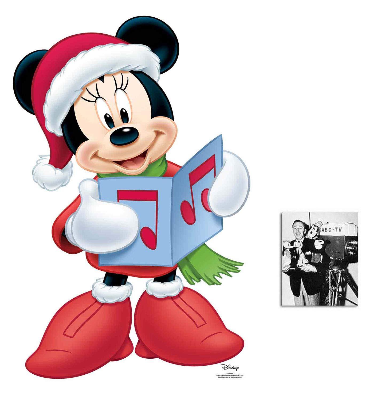 Minnie Mouse Christmas Carol Singer Official Disney Lifesize Cardboard Cutout Fan Pack, 93cm x 58cm Includes 8x10 Star Photo
