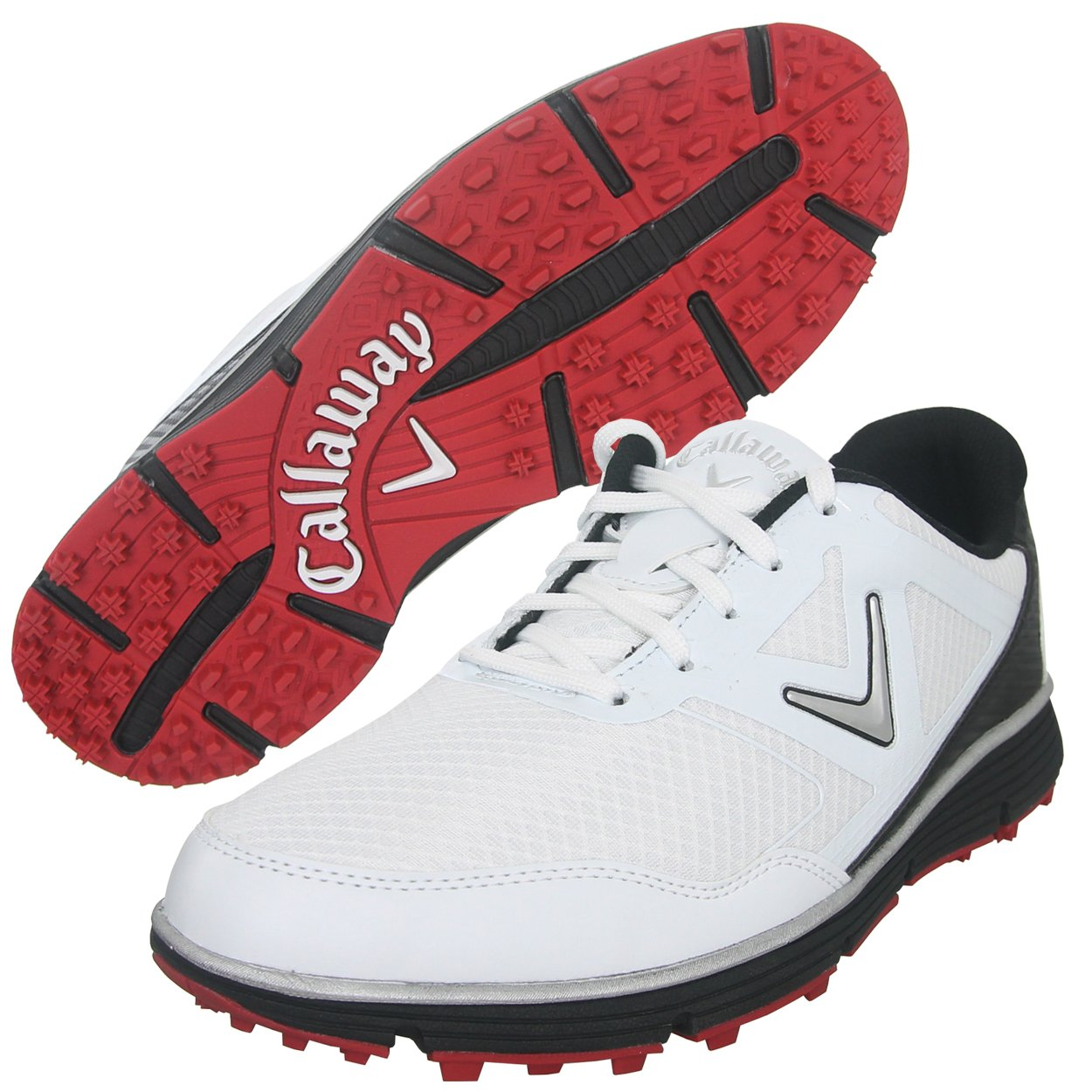 Callaway Men's Balboa Vent Golf Shoe, White/Black, 9 W US by Callaway (Image #3)