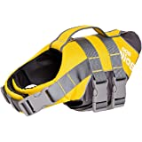 Dog Helios Outdoor Quick Release Easy-Fit Adjustable Reflective Dog Life Jacket Preserver with Rescue Handle High Buoyancy Float Aid Dog Saver S Yellow