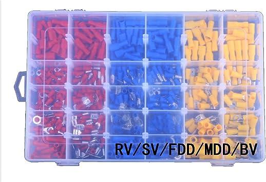 Conectores de cables eléctricos aislados, Terminales de crimpado Terminales combinados en caja, Kit de terminal frío 480pcs: Amazon.es: Bricolaje y herramientas