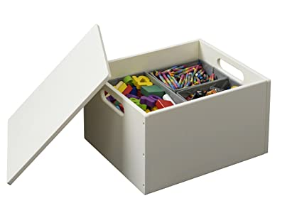 Tidy Books - Caja de juguetes Sorting Box Original en blanco crudo - Ideal para almacenar