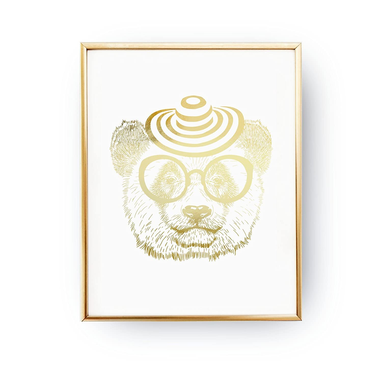 Amazing Amazon Com Panda Glasses Print Teen Gift Teen Boy Room Download Free Architecture Designs Itiscsunscenecom