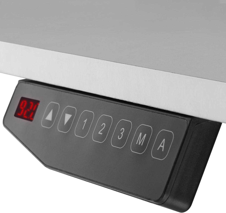 Variable Gestellbreite Diverse Farben - Schwarz | Nr. 402999 Memory- und Alarmfunktion TecTake 800665 Elektrisch h/öhenverstellbares Tischgestell