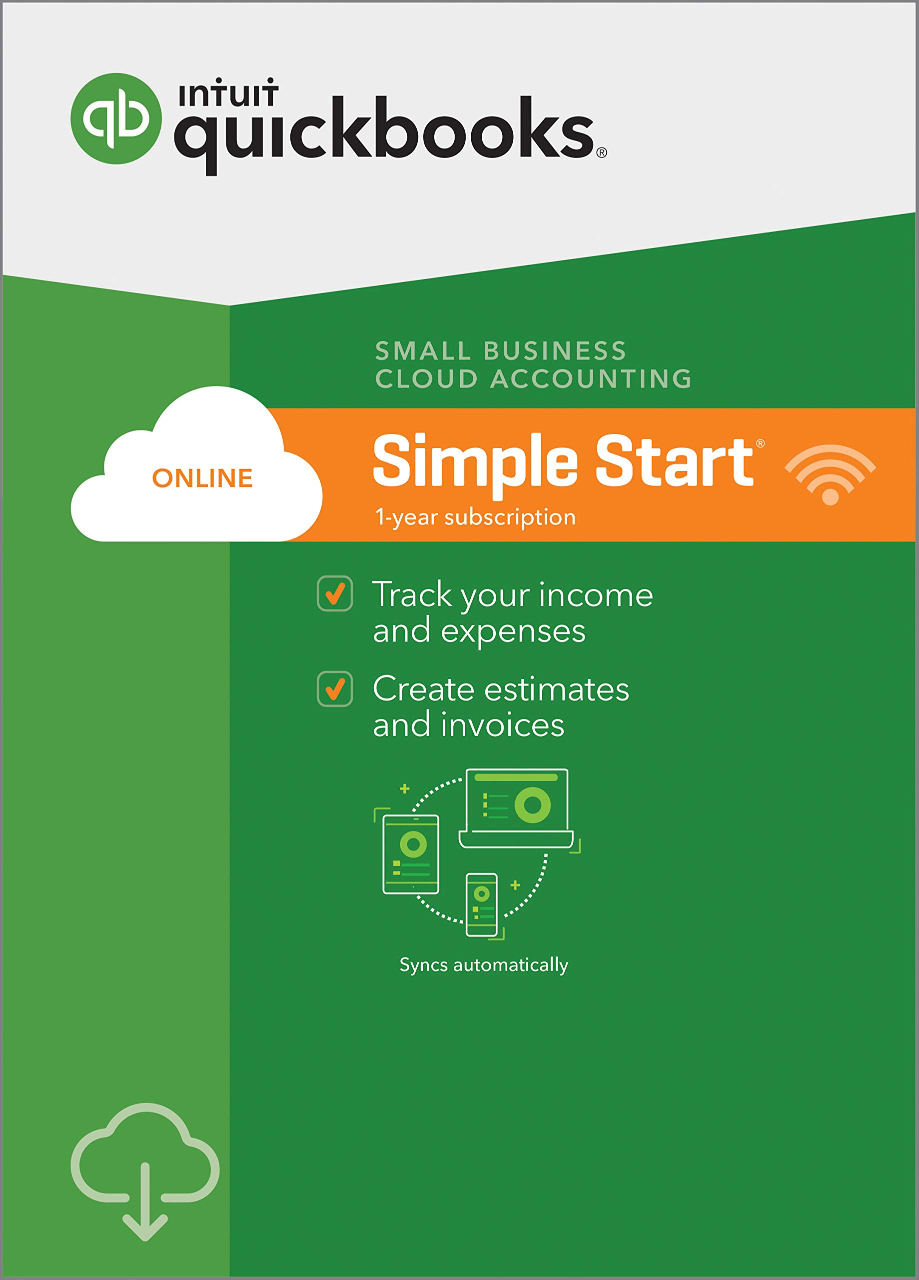 QuickBooks Online Simple Start 2019, 1 Year Subscription [PC/Mac Online Code] [PC Download] by Intuit