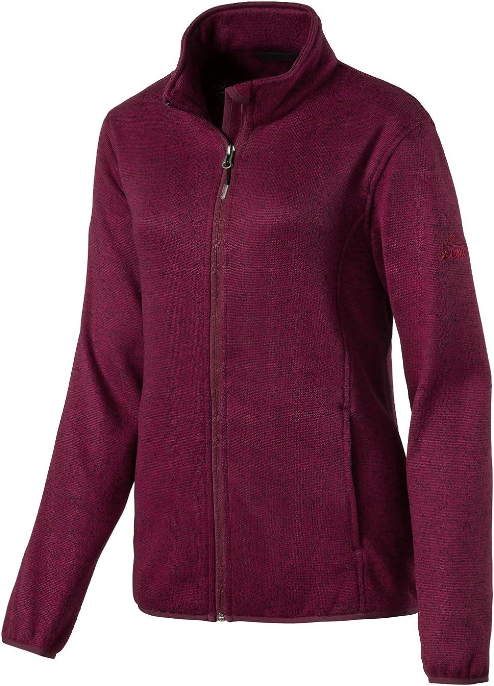 McKINLEY Damen Freizeit Outdoor Wander Fleece Jacke Galena pink Dark