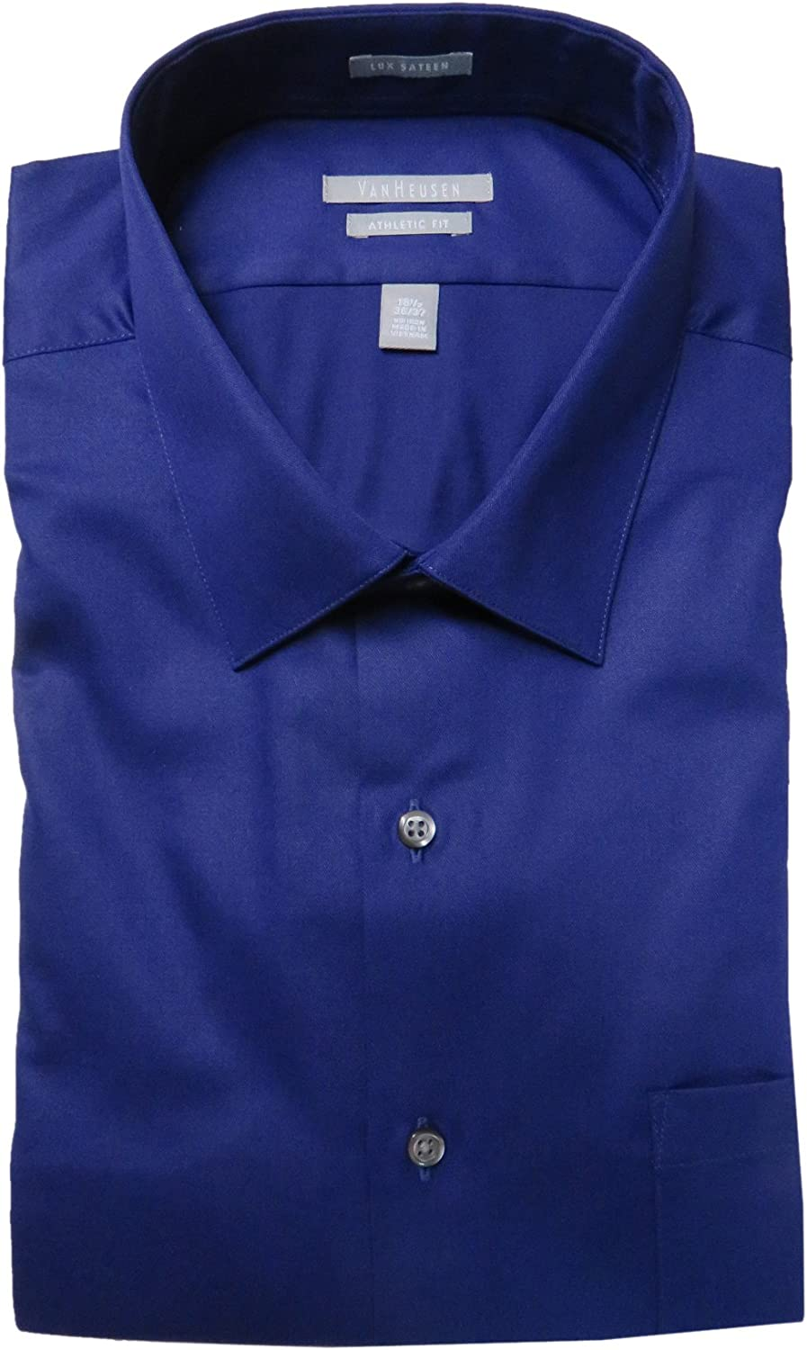 Milled Grape Size 18 1//2-36-37 Van Heusen Mens Athletic Fit Shirt