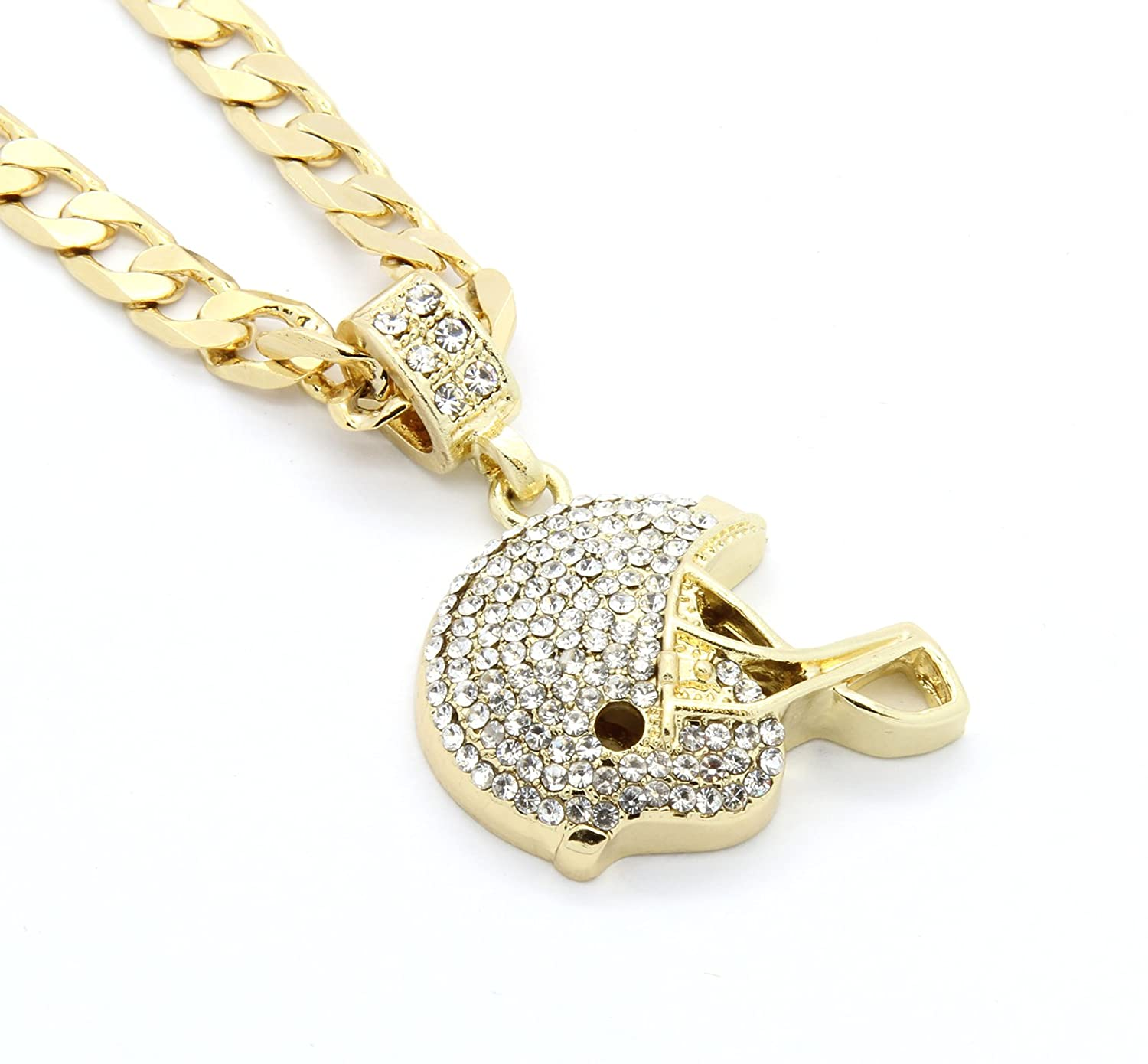 our spirit shop in necklace minimalist charm the gold products plated sn football
