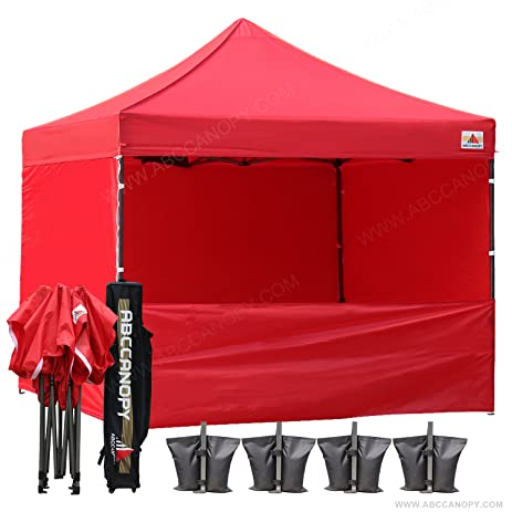 AbcCanopy Commercial 10x10 Instant Canopy Craft Display Tent Portable Booth Market Stall with Wheeled Carry Bag  sc 1 st  Amazon.com : coleman instant canopy screenwall accessory - memphite.com
