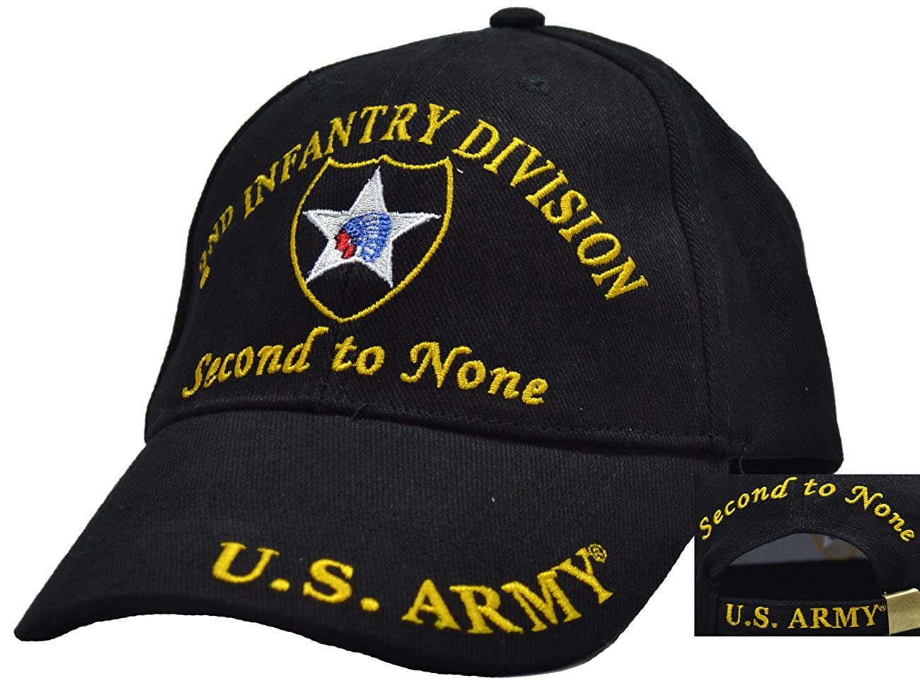 finest selection 299b4 40dc3 Top1  2nd Infantry Division Embroidered Ball Cap