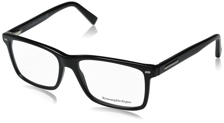 4b46cd38e52d Amazon.com: Ermenegildo Zegna Men's EZ5002 Eyeglasses, Shiny Black: Shoes