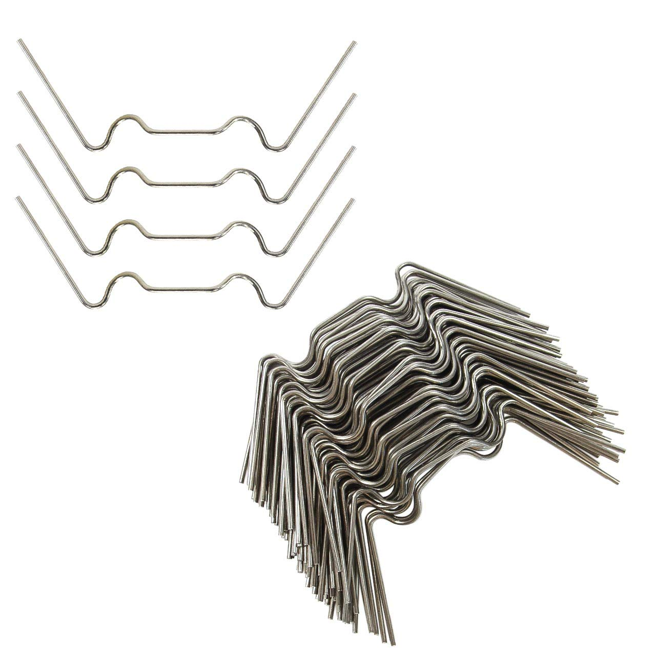 KEAYOO 100 Pcs Glazing Clips,Stainless Steel W Type 1.6mm Thick Use Fttings for Greenhouse