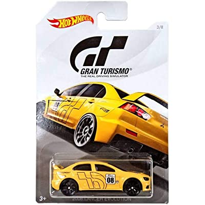Hot Wheels 2008 LANCER EVOLUTION 2020 GRAN TURISMO Series #2 YELLOW 2008 MITSUBISHI LANCER EVOLUTION 1:64 Scale Collectible Die Cast Metal Toy Car Model #3/8: Toys & Games