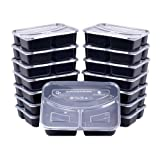 Amazon Price History for:Meal Prep Containers, [15 Pack] Bayco 3 Compartment Bento Box, Food Prep Containers, lunch containers with lids - BPA Free, Stackable, Reusable, Microwave, Dishwasher & Freezer Safe (36oz)