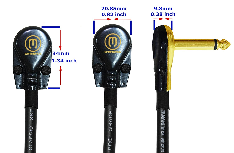 /Van Damme Pro grado Classic XKE/ / 5/unidades/ /5/pulgadas Cable de conexi/ón/ /blindado guitarra baja instrumento de efectos 12/cm ultra-flexible Multi/ /PREMIUM