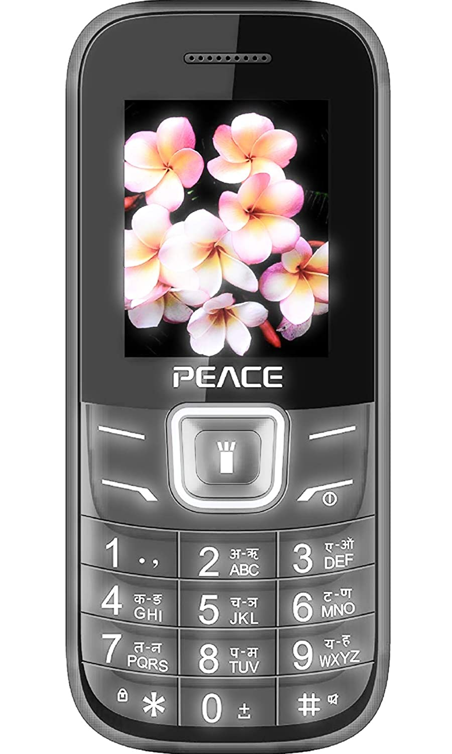 Peace FM1 Dual Sim Basic Feature Mobile Phone Black and Red