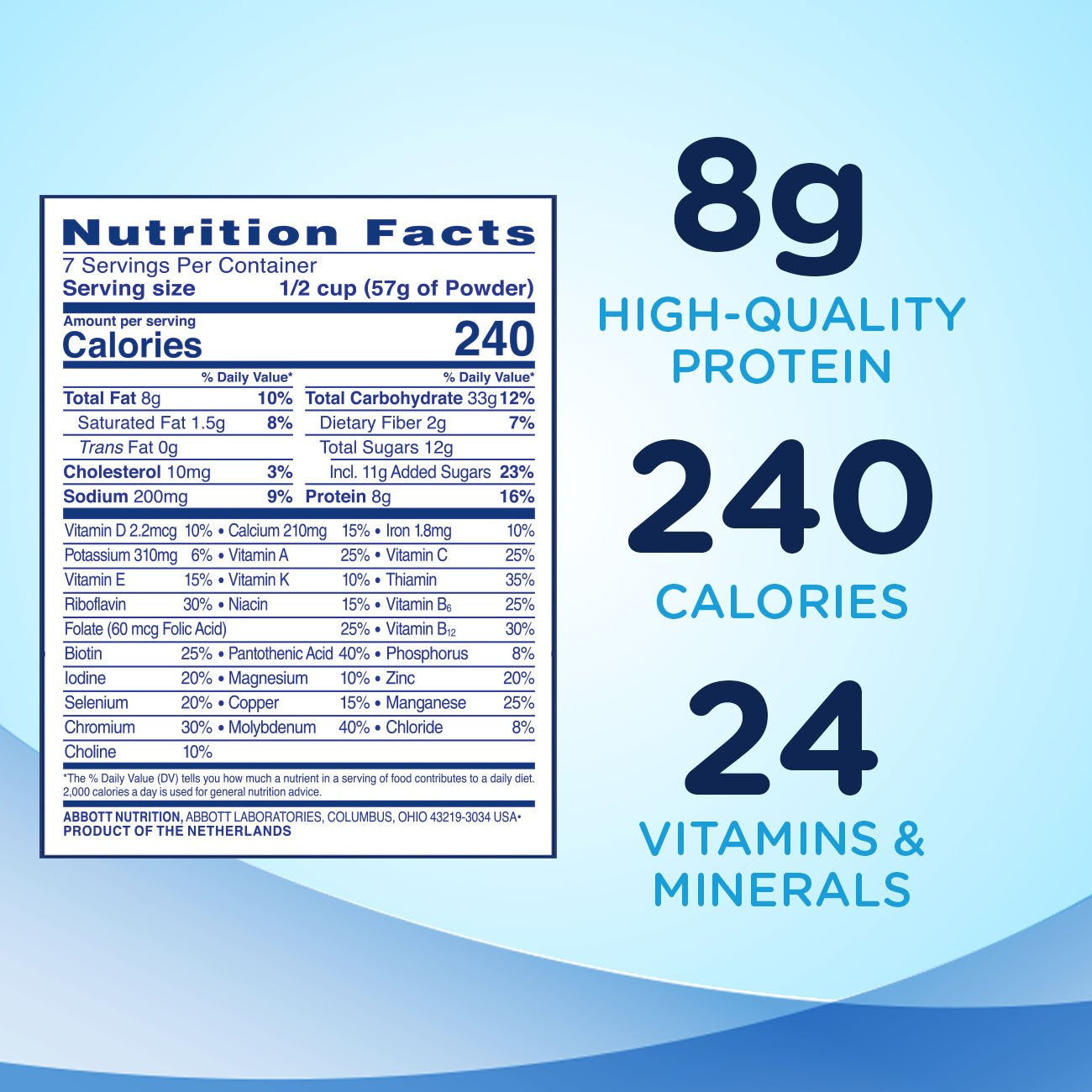 Ensure Original Nutrition Powder with 8 grams of protein, Meal Replacement, Vanilla, 6 count by Ensure (Image #4)