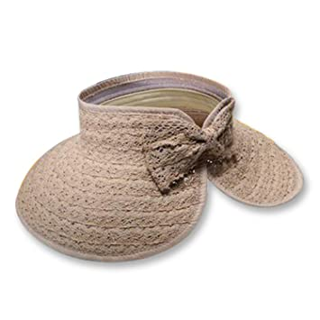 0a04bd70a646c Image Unavailable. Image not available for. Color  Sllxgli Summer Sun Hat  Lace Bow Empty Top Hat Outdoor ...