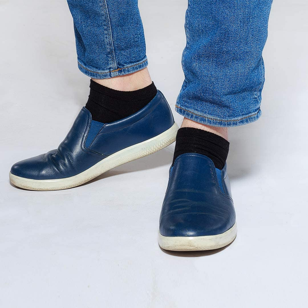 Blanco o Mixto SoftSocks Calcetines Cortos 6 Pares Hombre Mujer Tobillero Sneaker Low Cut Algodon Verano /¡Negro
