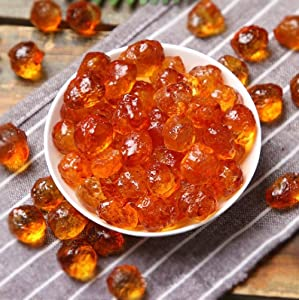 Wild Natural Tao Jiao Peach Resin Gum Jelly, Food additives Free, All Natural (1 Pound)