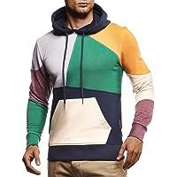 Leif Nelson LN8341 Hoodie voor heren, pullover met capuchon, lange mouwen, slim fit