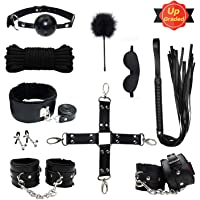Kit de Bondage au Lit Retenue Collier SM Accessoire Erotique Tenue Sex 10 Pièces Sex Toy pour Homme Femme