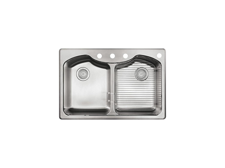Kitchen Sink Kohler K 3842 4 Na Octave Top Mount Double Equal Bowl Kitchen Sink