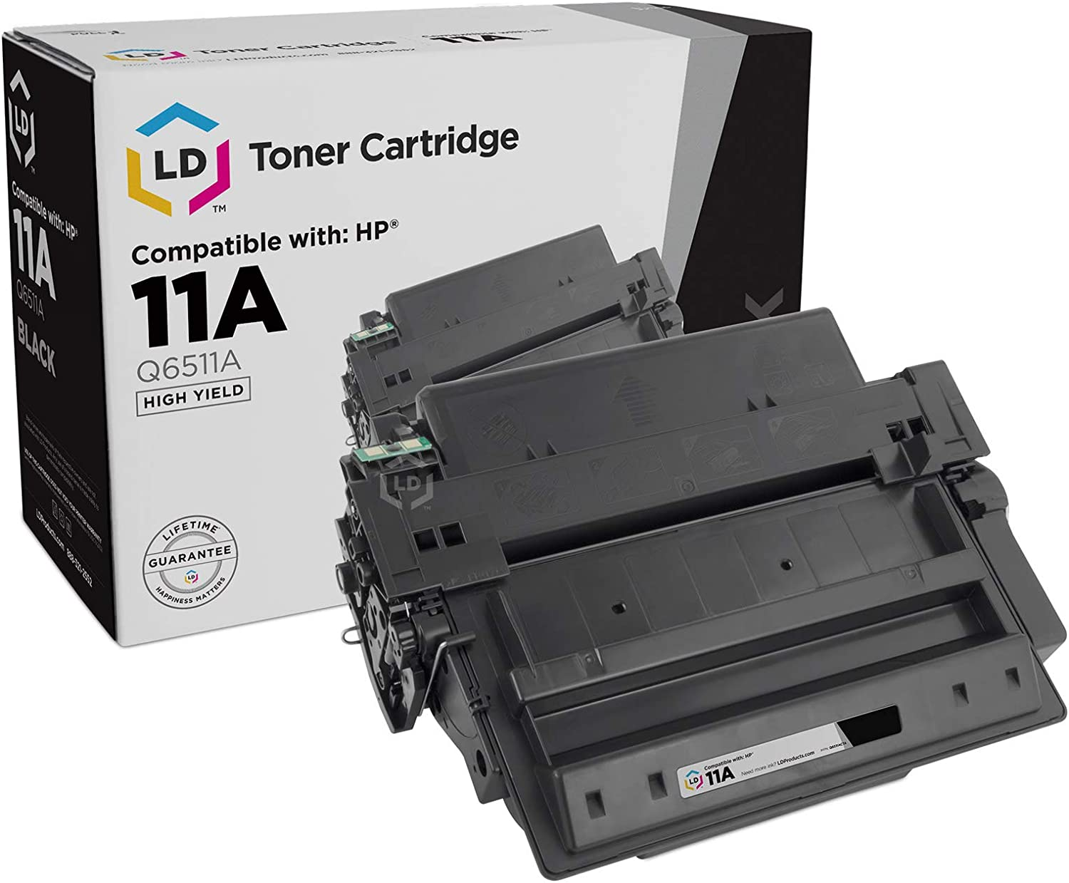 LD Compatible Toner Cartridge Replacement for HP 11A Q6511A (Black)