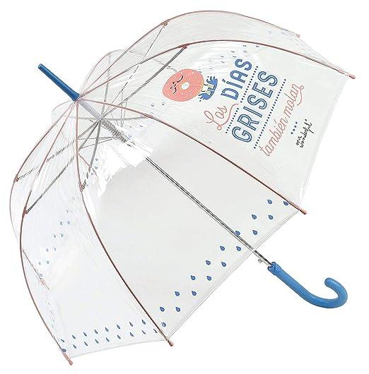Mr. Wonderful - Paraguas transparente, largo, rosa: Amazon.es: Juguetes y juegos