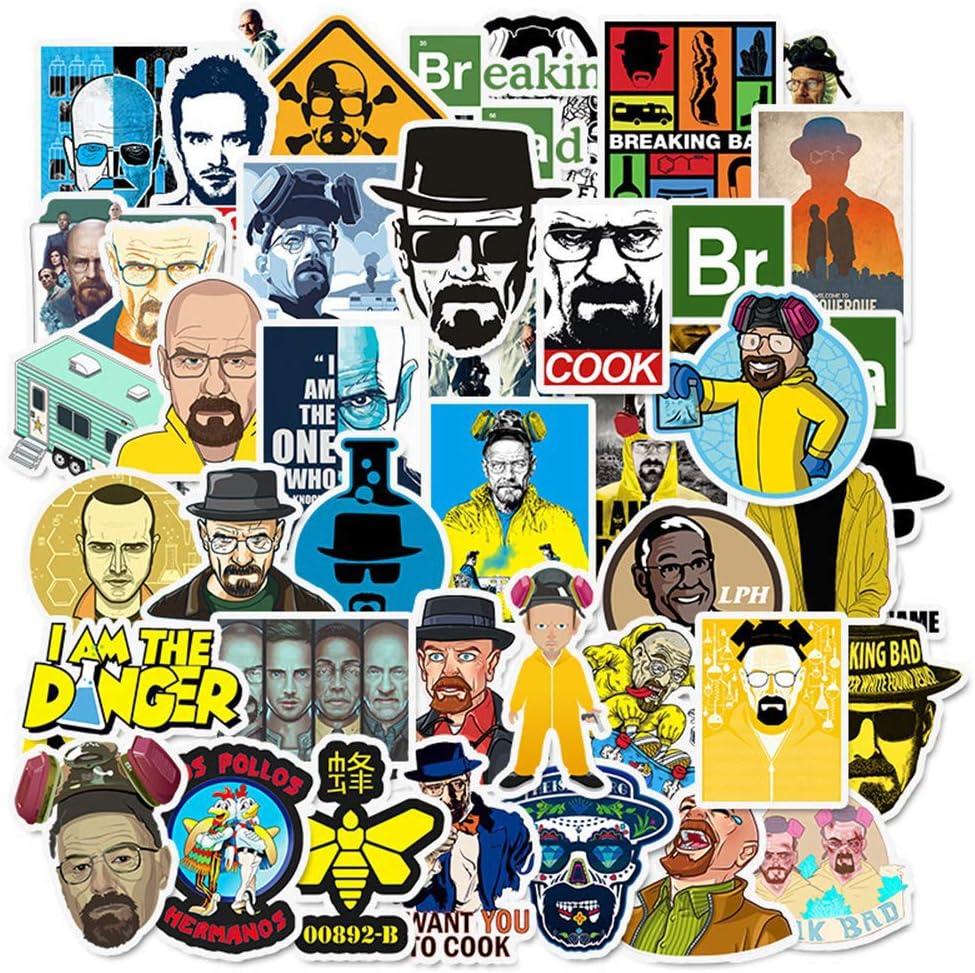 Ratgoo 50 Pcs Waterproof Vinyl Stickers of TV Series Breaking Bad Vinyl Stickers to Boys Teens Kids Men Adult Gift for Laptop Water Bottle Computer Mac Phone Case Hydro Flask Car Bumper Bicycle