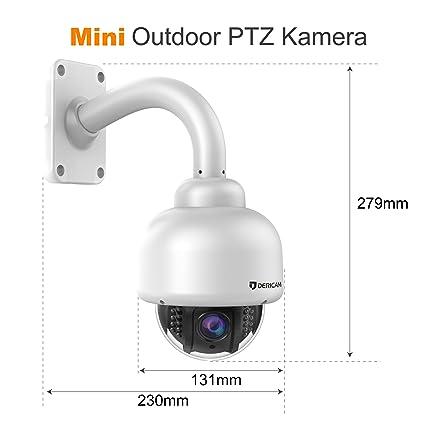 Dericam Outdoor Wireless Vigilancia, PTZ de Exterior de Cámara, Crystal Full HD 1080p, Zoom óptico 4 x, Auto Enfoque, Tarjeta de Memoria DE 32 GB ...