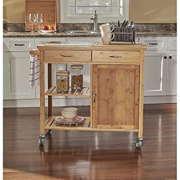 Amazon.com - Simple Interior Bamboo Kitchen Cart with ...