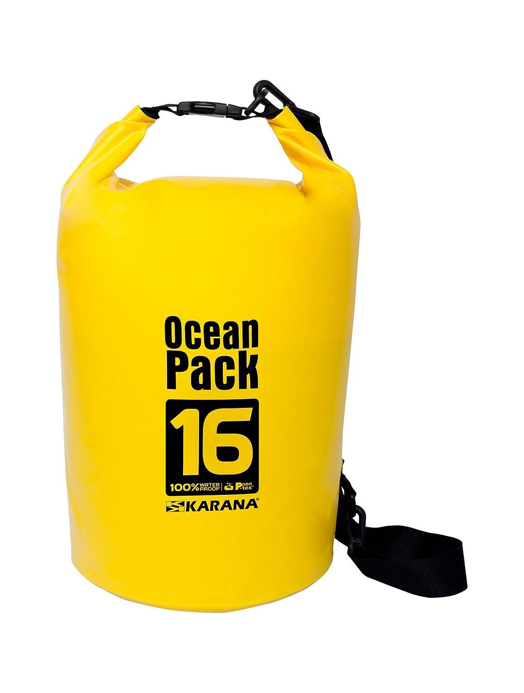 Karana Ocean Pack防水ドライバッグ16リットル( 112144716 )、イエロー1個。   B01F2BYPH0