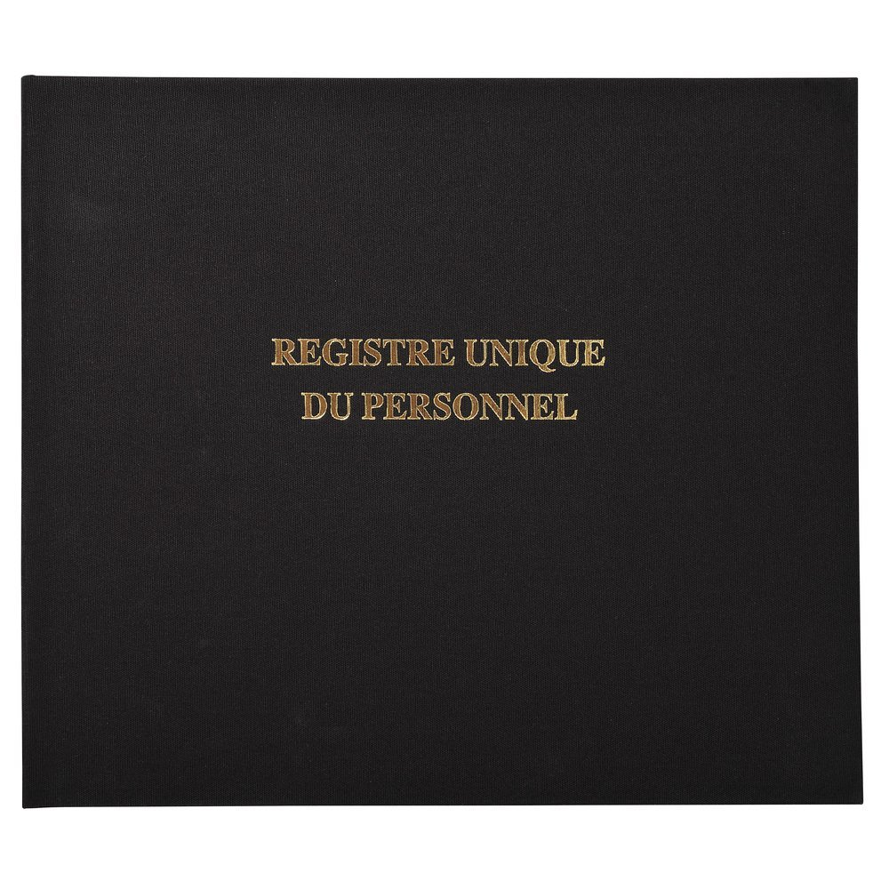 Registre 27x32cm - Registre Unique du Personnel 100pages Exacompta 6621E