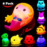 Bath Toys for Toddlers Baby 8 Pack Light Up Toys - Bathtub Toy Flashing Colourful LED Light Shower Bathtime For Kids…