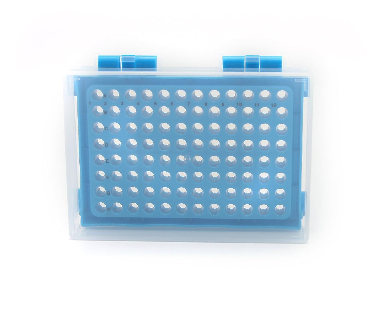96 Well Heathrow Scientific HD23461D Polypropylene PCR Rack Pack of 5 Green