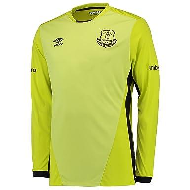 189e0845d Umbro Childrens Kids Football Everton Goalkeeper Home Shirt Jersey Top 2016-17  - XLB  Amazon.co.uk  Clothing