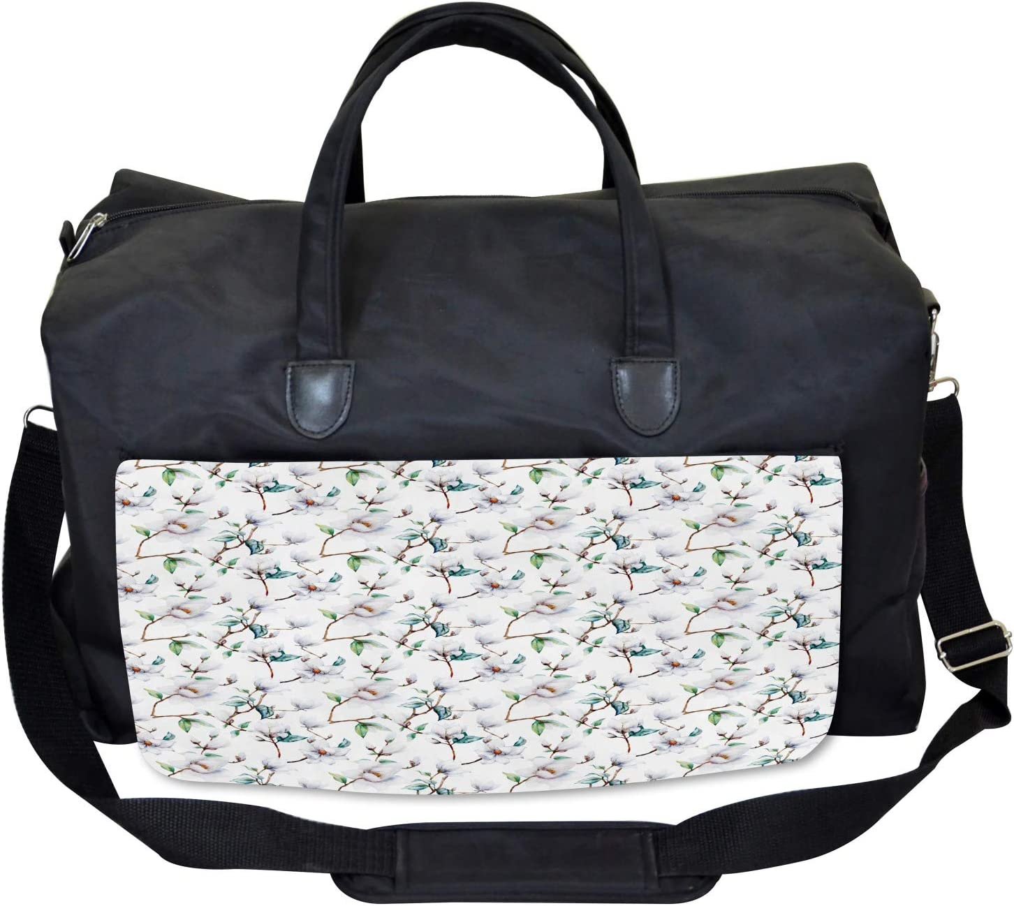Large Weekender Carry-on Royal Mallows in Spring Ambesonne Flower Gym Bag